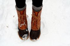 l.l. bean duck boots. These are so on my Christmas list!!!!