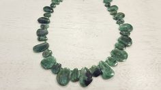 100 % Natural Brazilian Emerald Free-Form Shaped Beads 16inch Strand 60.5 Grams by BeadSeen on Etsy