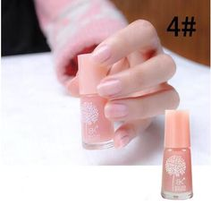 Water Base Peel Off Nail Polish Smell Faint Fragrance Nail Art Varnish 60 Colors For Women And Girl