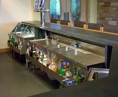 front of bar equipment layout Home Bar Signs, Diy Home Bar, Home Bar Decor, Bars For Home, Sportbar Design, Bar Interior Design, House Design, Design Ideas, Pub Bar