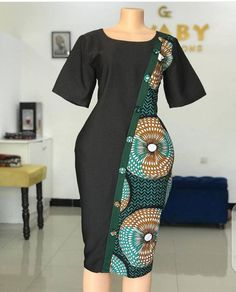 Best African Dresses, Latest African Fashion Dresses, African Print Dresses, African Attire, African Print Shirt, African Print Fashion, Mode D'ankara, Office Dresses For Women, Ankara Short Gown Styles