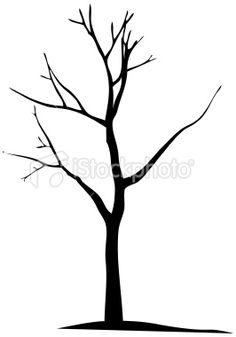 Vector dead tree silhouette- round branches a bit more then add flowers... has potential