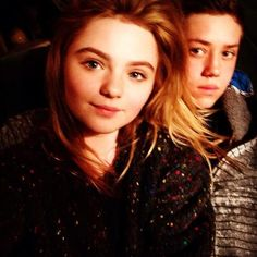 Ethan Cutkosky with Morgan Lily, who plays Bonnie, Carl's girlfriend.