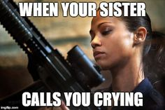 when your sister call you crying - Google Search