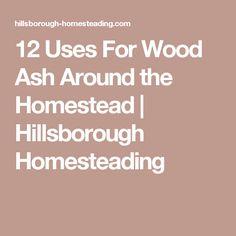 12 Uses For Wood Ash Around the Homestead | Hillsborough Homesteading