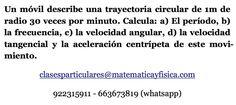 Física. Movimiento circular uniforme.