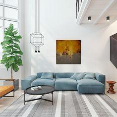 Quadros abstratos são sempre uma ótima opção para a sala de estar…