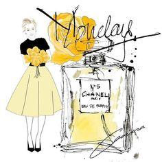 Monday Selfie....yellow sunny spring feelings #supergirl #art #artist #chanel…