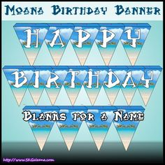 Free Moana Printable Crafts, Activities and Party Supplies – SKGaleana Moana Birthday Party Theme, Moana Themed Party, Moana Party, Luau Birthday, Happy Birthday Banners, Birthday Ideas, Printable Banner, Printable Crafts, New Animation Movies