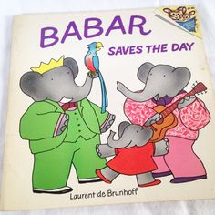 Babar Saves the Day - Vintage Kids  Book 1976 by RetroVintageHeart on Etsy
