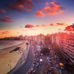 Montevideo. Rambla de Playa Pocitos