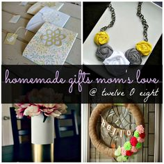 twelveOeight: DIY Gifts Ideas For Mother's Day