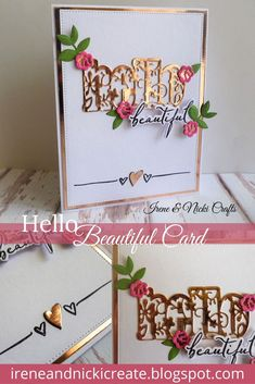 A Touch of Elegance____ # CardMakingMagic Hello Beautiful, Craft Kits, Irene, Studios, Magazine, Touch, Elegant, Projects, Cards
