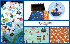 Treasure Map by Lesley Grainger for Riley Blake Designs