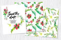 Wedding watercolor floral kit - Invitations - 1