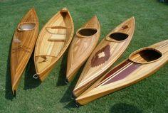 Hand built wooden kayaks & canoes Beautiful!