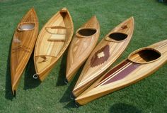 Hand built wooden kayaks & canoes Beautiful!