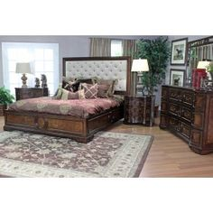 Malibu X Eastern Fabric California King Size Platform Bed