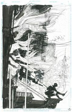 The Punisher versus Daredevil by Bill Sienkiewicz