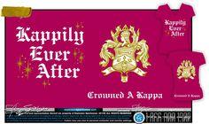 Kappa Kappa Gamma sorority shirt. Kappily Ever After <3 Explosion Sportswear design #sorority #kkg #love