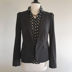 J.Crew Puffed Sleeve Blazer Such a great feminine piece to pair with a pencil skirt or destructed denim and a boyfriend button down shirt. Stretchy cotton, one-button blazer...so comfortable! In Excellent condition and only worn a few times. J. Crew Jackets & Coats Blazers