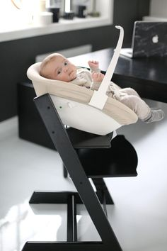 Stokke Tripp Trapp with Newborn Accessory featured on   Stylista.no