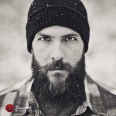 Man Photography – Portraits of Men in all Their Manliness Portrait, black and white, b/w, beard, mustache, competition mustache, snow photos, hunting, outdoors, homemade beard balm, mustache wax