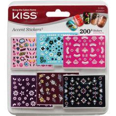 KISS Kiss Accent Stickers Nail 200+ Stickers 51351 Crowns Jewels #Kiss