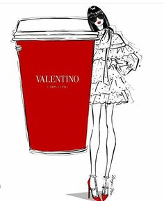 Valentino Coffee by Megan Hess