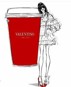 Valentino Coffee by Megan Hess