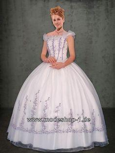 Prinzessin Sissi Abendkleid Ballkleid mit Stickereien