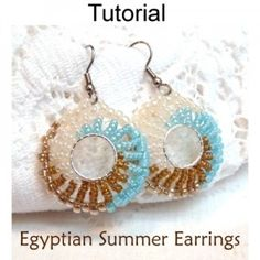 Egyptian Summer Earrings PDF Beading Pattern