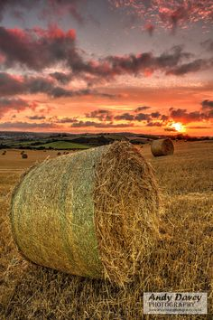 Landscape photograph of hay bale and by AndyDaveyPhotography, £14.99