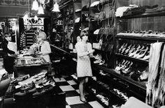 Inside Biba, the popular London fashion store, in the 1960's