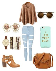 """Going to mall 2"" by carissfigueroaramirez on Polyvore featuring Topshop, Soda, Jessica Carlyle, ban.do and ZeroUV"