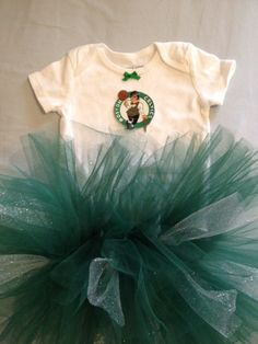 NBA Boston Celtics Tutu Cheer Dress for Baby by hollieshobbies1, $19.45