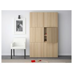 BESTÅ Storage combination with doors - Lappviken white stained oak effect - IKEA Soft Closing Hinges, Frame Shelf, Home Goods Store, White Stain, Knobs And Handles, Affordable Furniture, Interior Accessories, Tall Cabinet Storage, Ikea Storage