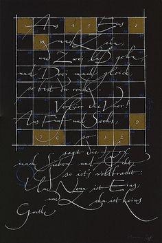 Hermann Zapf ~ calligraphy