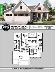 351 Best Small farmhouse plans images | Tiny house plans ... Large Single Level Florida Style House Plans Html on