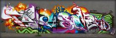 Nice use of colors on this graffiti mural.