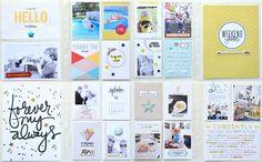 Project Life Spread by Jen Chapin   One Little Bird