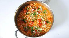 Risotto de tomate con tomatitos cherry