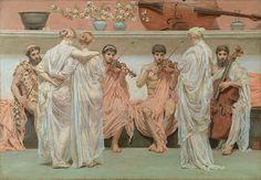 """ The Quartet, a Painter's Tribute to Music, 1868 Albert Joseph Moore (1848 – 1893) """