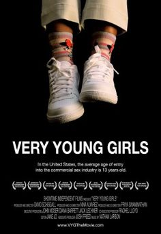 Very Young Girls is an exposé of the commercial sexual exploitation of girls in New York City as they are sold on the streets by pimps and treated as adult criminals by police. The film follows barely adolescent girls in real time, using vérité and intimate interviews with them, documenting their struggles and triumphs as they seek to exit the commercial sex industry.