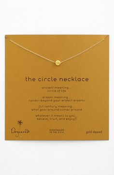 Dogeared 'Reminder - The Circle' Boxed Pendant Necklace available at #Nordstrom