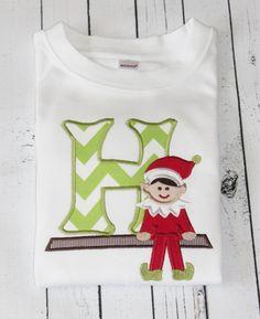 Elf Initial Shirt by TadpolesandTutusBout on Etsy, $19.00