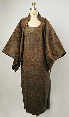 Glazed Linen Raincoat, Japanese, c. 1790-1800.