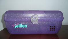 Vintage Caboodles 2752 Jellies Purple Sparkle Makeup Cosmetic Case Organizer VGC #Caboodles