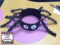 Silly Spider Hats Craft! Check out this easy craft project perfect for Halloween!  Alaska Center for Pediatrics www.akpeds.com