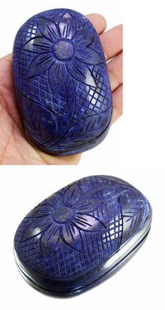 Lapis Lazuli 10235: 1408Ct Big Huge Natural Floral Art Work Hand Carving Lapis Lazuli Loose Gemstone BUY IT NOW ONLY: $74.99